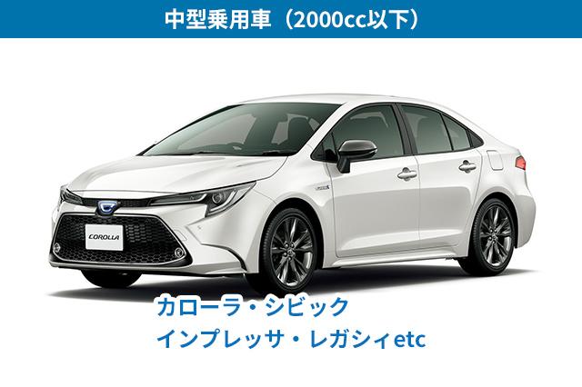 中型乗用車(2000cc以下)
